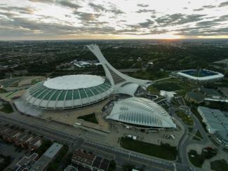 Vue aérienne du Parc olympique en 2014
