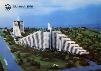 Carte postale du village olympique.