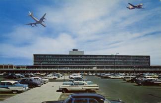 Carte postale de l'aéroport