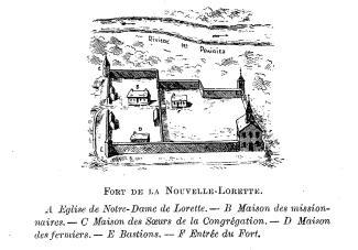 Dessin du fort de la Nouvelle-Lorette