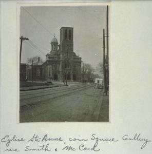 Église Sainte-Anne au coin des rues McCord, Smith et Square Gallery.