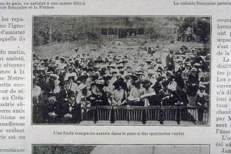 Comment les français célèbrent leur fête nationale à Montréal : une foule compacte assiste dans le parc à des spectacles variés.
