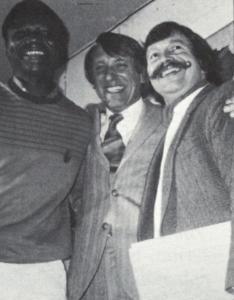 De gauche à droite : Filippe Savadogo, Délégué général du FESPACO Gérard Le Chêne, Président de Vues d'Afrique Jean-Pierre Garcia, Président du Festival international du Film d'Amiens (France)
