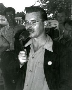 R. Kent Rowley, à Valleyfield durant la fête du travail entre 1947 et 1951.