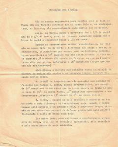 Première page d'un document de trois pages écrit en portugais et s'intitulant Cuidados com a saude donnant des informations sur les saisons et le climat.