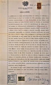 Document officiel rempli au consulat du Portugal à Montréal pour la réunification de sa famille.