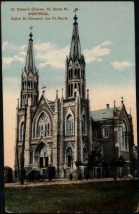 Carte postale colorisée d'une église à deux clochers