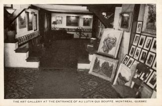 La galerie d'œuvres d'art installée dans le restaurant Au lutin qui bouffe.