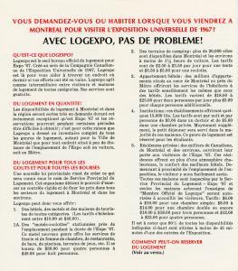 Feuillet promotionnel expliquant ce qu'est Logexpo