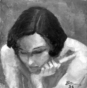 Peinture d'une femme
