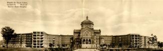 Carte postale montrant le bâtiment de l'hôpital du Sacré-Cœur