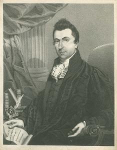 Gravure de Louis-Joseph Papineau tenant un document