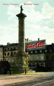 Vue sur la colonne et la statue de l'amiral Nelson