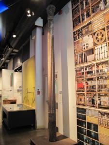 Colonne de fonte se trouvant au Centre d'histoire de Montréal