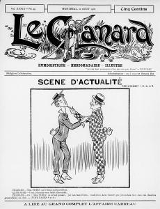 Une du journal satirique Le Canard en 1916 suite à l'affaire Carreau