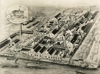 Illustration montrant les installations de la Montreal Rolling Mills Co
