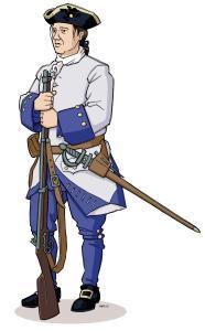Illustration d'un soldat français