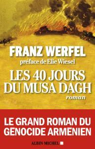 Couverture de la dernière édition de l'ouvrage Franz WERFEL, Les 40 jours du Musa Dagh.