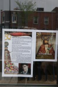 Affiches annonçant la fête de Santo Cristo.