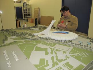 Maquette du Parc olympique de Montréal
