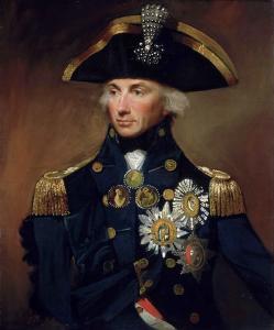 Portrait taille d'Horatio Nelson en uniforme