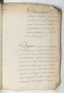 Ordonnance concernant l'esclavage au Canada, 13 avril 1709