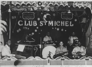 Steep Wade et son orchestre sur la scène du Club St-Michel