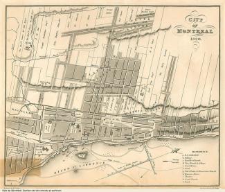 Plan de la ville de Montréal en 1830