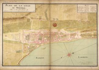 Plan de Montréal en 1731