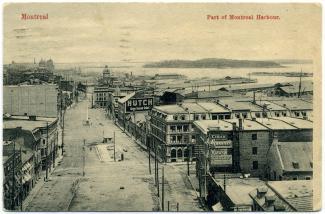 Carte postale montrant la place D'Youville vers 1900, avant la construction de la caserne de pompiers.