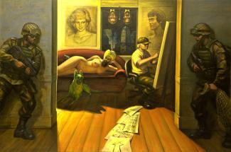 Toile du peintre Andong Wang.