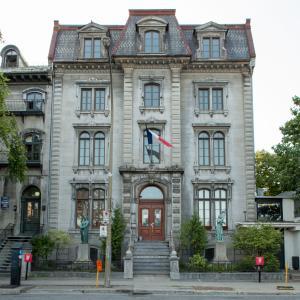 L'édifice de l'Union française de Montréal sur l'avenue Viger