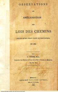 Page couverture d'un ouvrage écrit par Jacques Viger