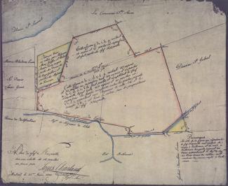 Plan du fief Nazareth en 1805