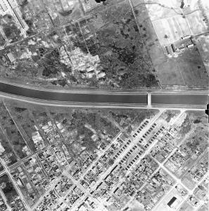 Vue aérienne de Côte-Saint-Paul et Ville-Émard