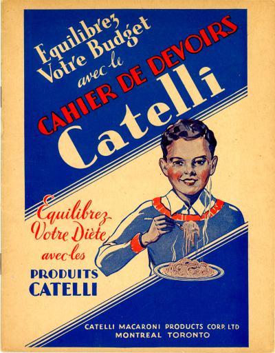 Cahier d'écolier Catelli.