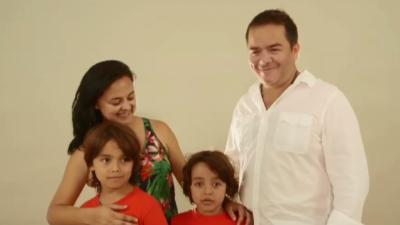 La famille Angarita Diaz, Colombie, arrivée en 2009