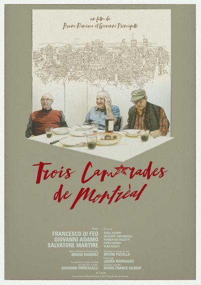 Affiche du documentaire Trois camarades de Montréal