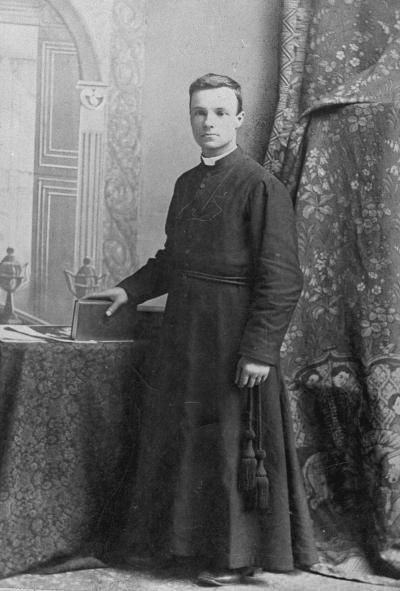 Photo du frère André faisant sa profession de foi