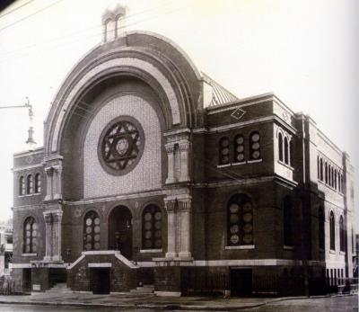 Photo ancienne d'une synagogue