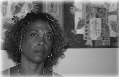 L'artiste Geneviève Lahens (Iris)