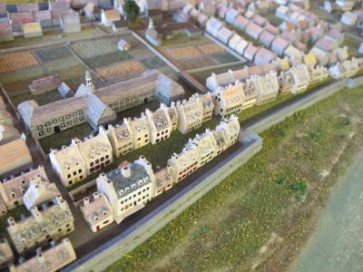 Maquette montrant Montréal en 1745