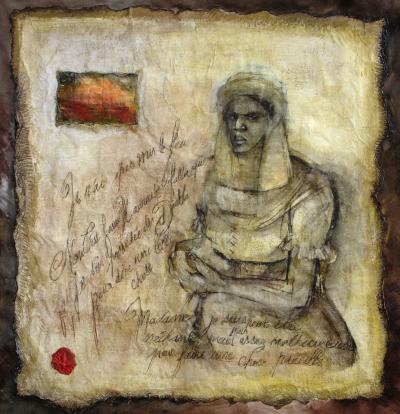 Portrait de Marie-Josèphe-Angélique par l'artiste Marie-Denise Douyon.