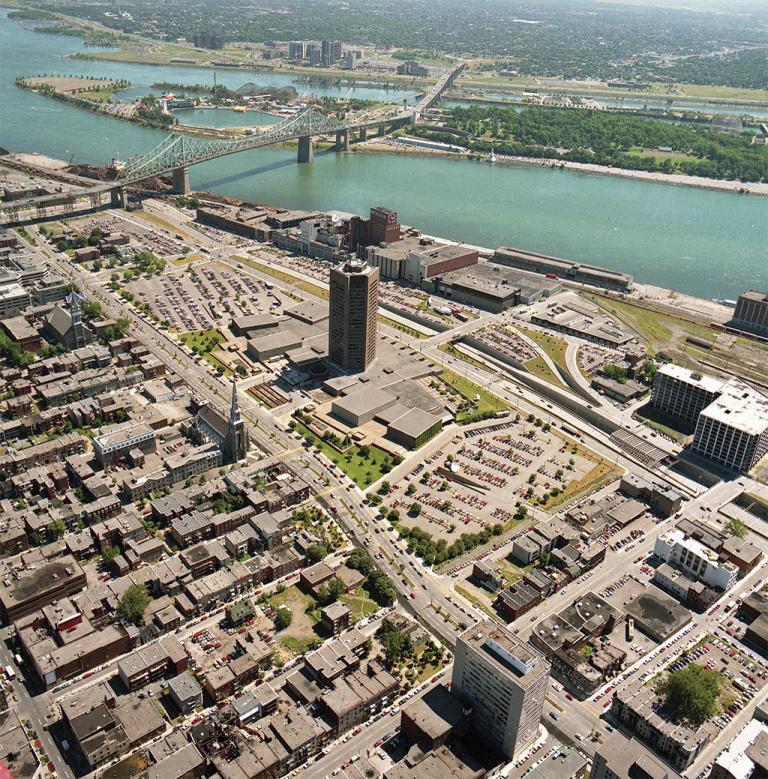 Vue aérienne du site de la Maison de Radio-Canada