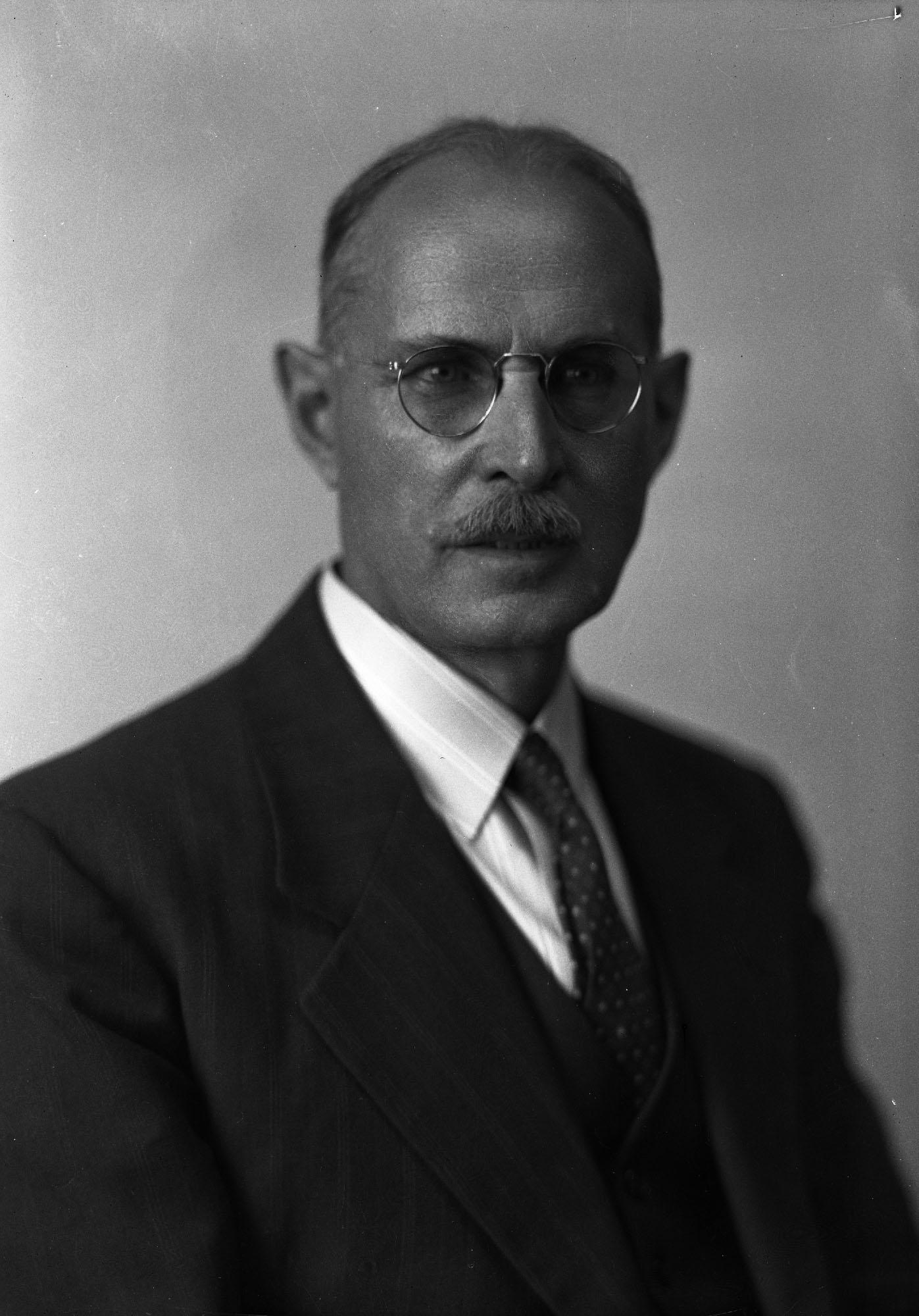Photo noir et blanc de Frederick G. Todd, conseiller municipal