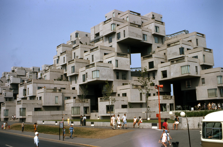 Expo 67 habitat 67 m moires des montr alais for Est habitat construction