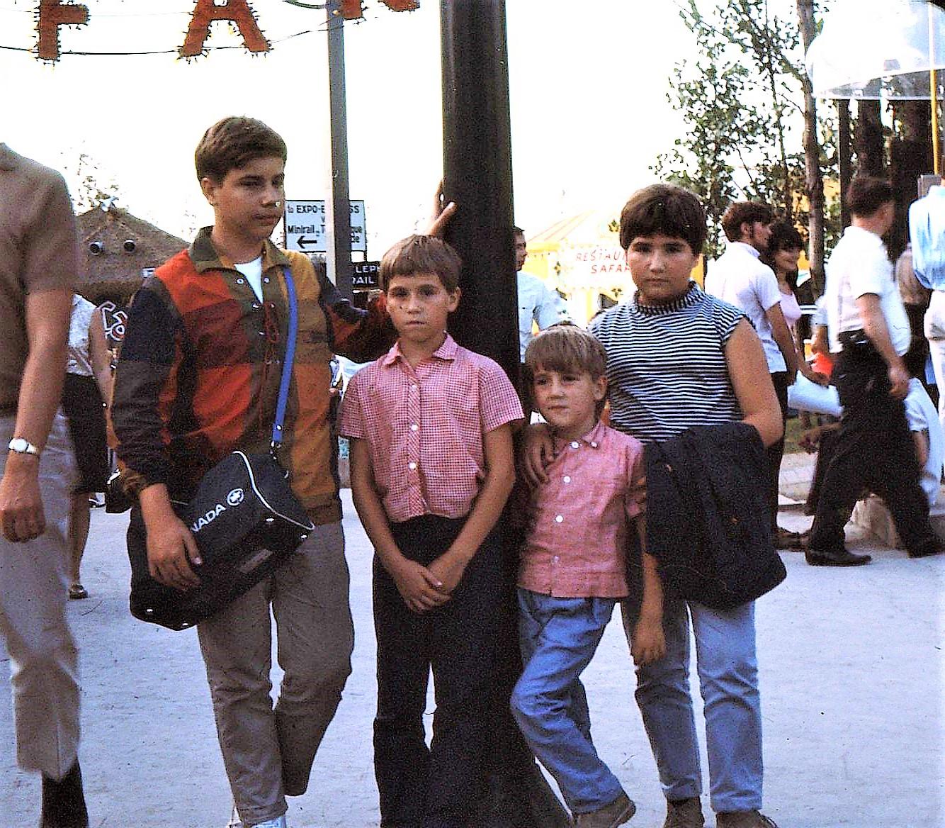 Jean Huard et ses frères et sœur à Expo 67