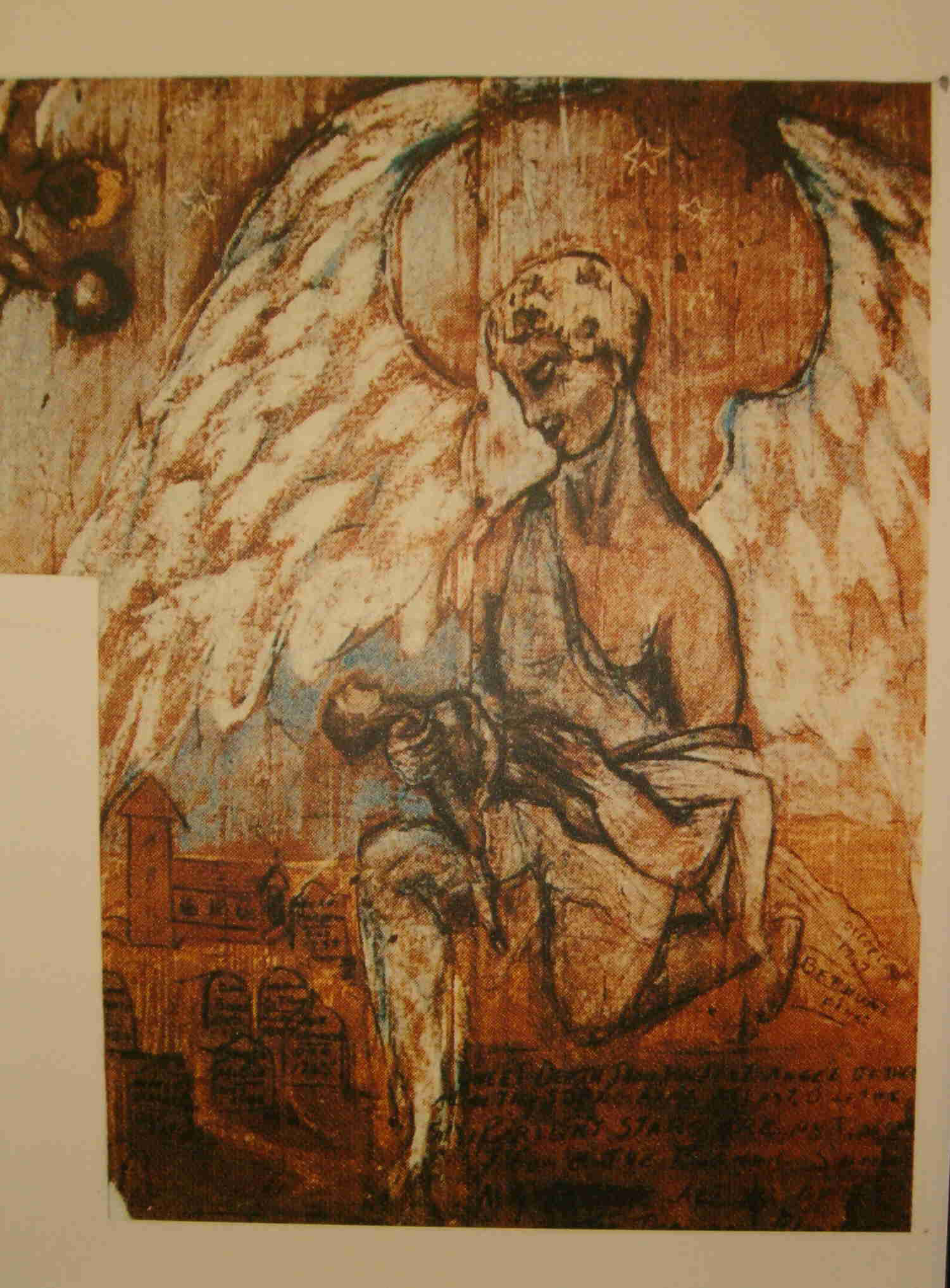 Peinture représentant un ange de la mort