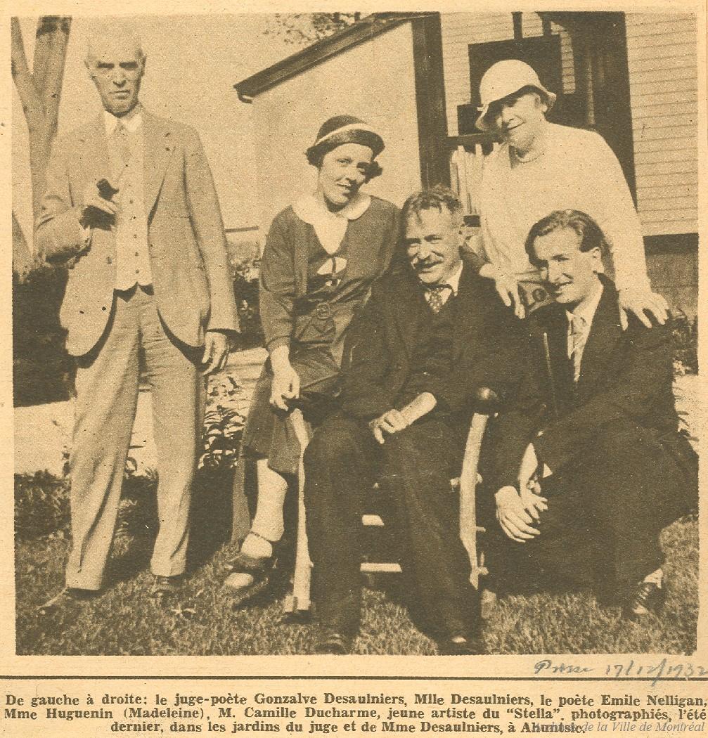 Portrait d'Émile Nelligan en 1932.
