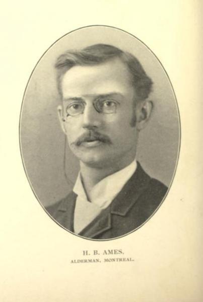 Portrait buste de Herbert Brown Ames